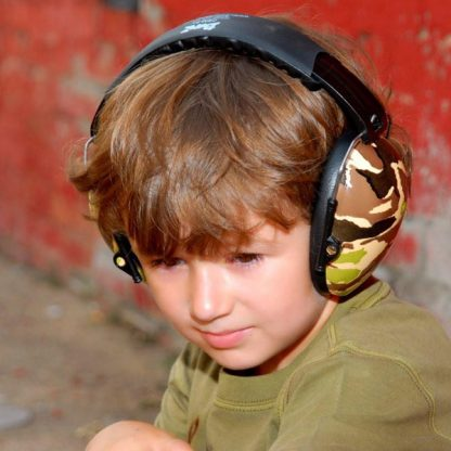 Hear No Blare Earmuffs worn by a boy