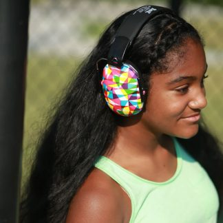 Teenager wearing Geo earmuffs
