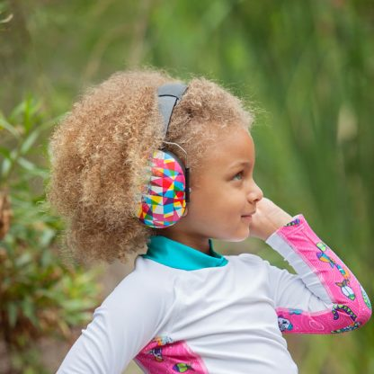 Older girl wearing Geo earmuffs