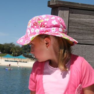 Girl in Pink Hawaii Reversible Sunhat