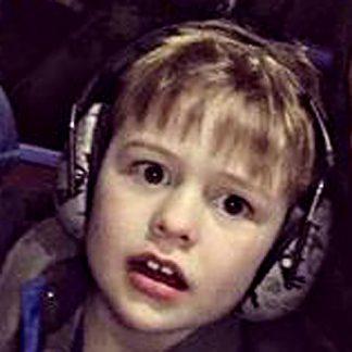 Boy wearing Graffiti earmuffs
