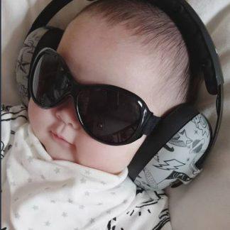 Retro Banz Black sunglasses, Mini Muffs Graffiti