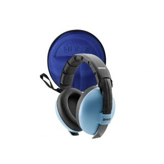 Under 2 Earmuffs Case in Lapis Blue with Blue earmuffs