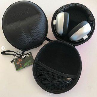 Onyx Black under 2 earmuffs case with Silver earmuffs