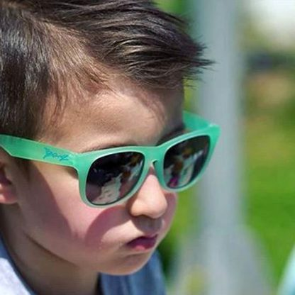 Boy in JBanz Chameleon sunglasses