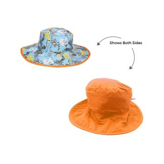 Reversible Sunhat in Jungle showing two sides