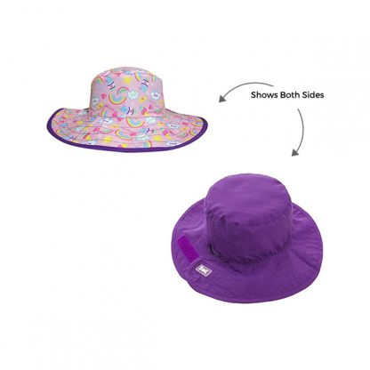 Reversible Sunhat Rainbow showing two sides