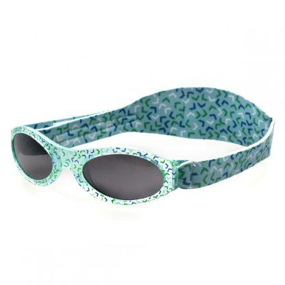 Adventure Banz Confetti Green Sunglasses for under 2 years