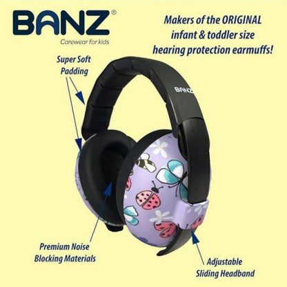 0-2 years earmuffs Butterfly showing features