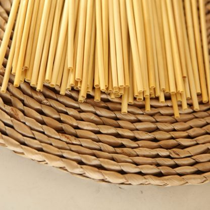 Wheat straws on a mat