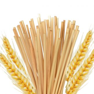 Straws with wheat