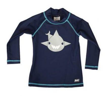 Long-sleeved rash shirt in Navy Shark
